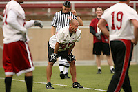 21 April 2007: Josh Wright during the Alumni's 38-33 victory over the coaching staff during a flag football exhibition at Stanford Stadium in Stanford, CA.
