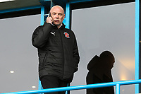 Uwe Rosler (Manager) of Fleetwood Town on his phone ahead of the Sky Bet League 1 match between Gillingham and Fleetwood Town at the MEMS Priestfield Stadium, Gillingham, England on 27 January 2018. Photo by David Horn.