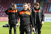 Blackpool's Oliver Turton checks out the surroundings at Glanford Park<br /> <br /> <br /> Photographer David Shipman/CameraSport<br /> <br /> The EFL Sky Bet League One - Scunthorpe United v Blackpool - Friday 19th April 2019 - Glanford Park - Scunthorpe<br /> <br /> World Copyright © 2019 CameraSport. All rights reserved. 43 Linden Ave. Countesthorpe. Leicester. England. LE8 5PG - Tel: +44 (0) 116 277 4147 - admin@camerasport.com - www.camerasport.com