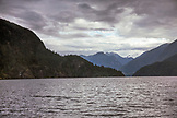 CANADA, Vancouver, British Columbia, view towards Deep Cove in the Burrard Inlet