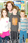 Teacher Johanna Galvin with Erin Scott, Adem Erdogan and Christopher Wallace of the 2008 junior infants class of Tahilla National School.   Copyright Kerry's Eye 2008