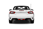 Straight rear view of 2017 Fiat 124-Spider Abarth 2 Door Convertible Rear View  stock images