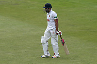Ravi Bopara leaves the field having been dismissed for 6 during Lancashire CCC vs Essex CCC, Specsavers County Championship Division 1 Cricket at Emirates Old Trafford on 10th June 2018