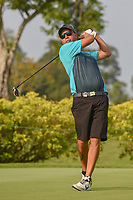 Kristopher WILLIAMSON (COK) watches his tee shot on 3 during Rd 1 of the Asia-Pacific Amateur Championship, Sentosa Golf Club, Singapore. 10/4/2018.<br /> Picture: Golffile | Ken Murray<br /> <br /> <br /> All photo usage must carry mandatory copyright credit (&copy; Golffile | Ken Murray)