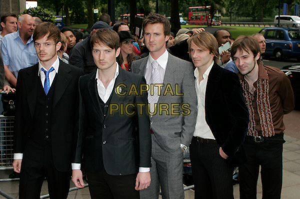 THE FEELING - RICHARD JONES, DAN GILLESPIE SELLS, PAUL STEWART,KEVIN JEREMIAH & CLARAN JEREMIAH.Arrivals at the Ivor Novello Awards, Grosvenor House, London, England..May 24th, 2007.half length black suit band grey gray.CAP/AH.©Adam Houghton/Capital Pictures