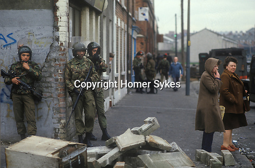 Belfast The Troubles 1980 Northern Ireland UK
