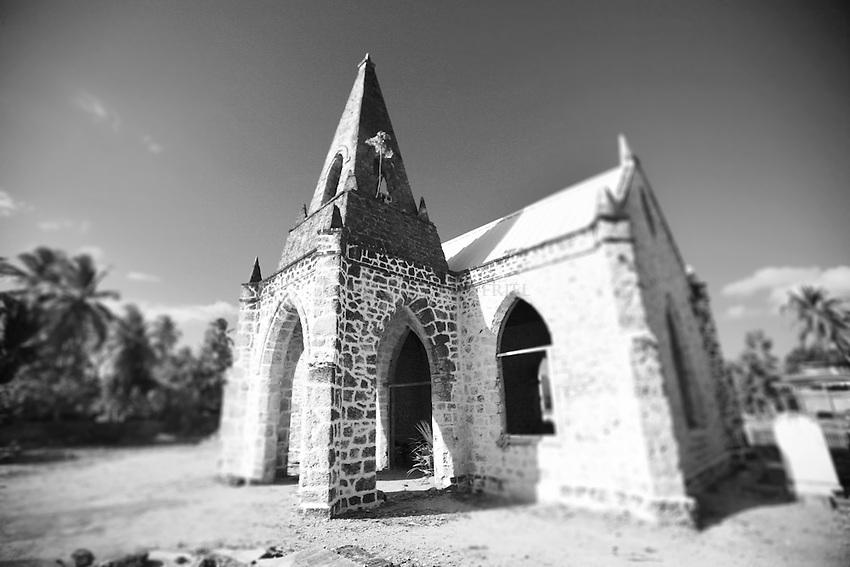 Abandoned Church across from Sandridge Beach Hotel near Speightstown.St. James Parish.Barbados