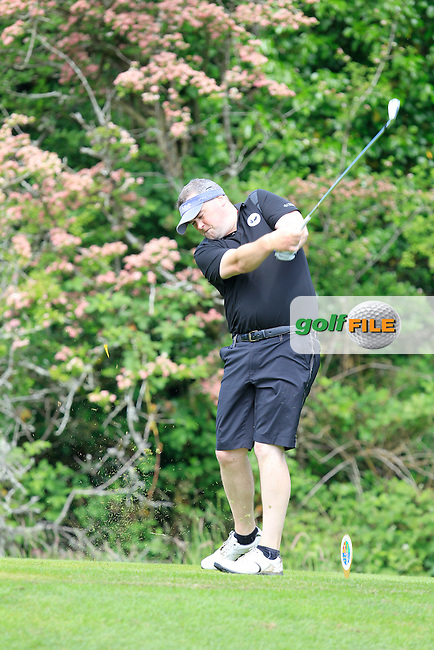 Colin Rayfus (Knightsbrook) on the 2nd tee during Round 1 of the Irish Mid-Amateur Open Championship at New Forest on Saturday 20th June 2015.<br /> Picture:  Thos Caffrey / www.golffile.ie