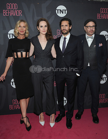 NEW YORK, NY - NOVEMBER 14:  Actors  Lusia Strus, Michelle Dockery, Juan Diego Botto and Terry Kinney attend the TNT  'Good Behavior' NYC Premiere at Roxy Hotel on November 14, 2016 in New York City. Photo by John Palmer MediaPunch