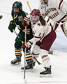 Saana Valkama (UVM - 24), Grace Bizal (BC - 2) -  The Boston College Eagles defeated the University of Vermont Catamounts 4-3 in double overtime in their Hockey East semi-final on Saturday, March 4, 2017, at Walter Brown Arena in Boston, Massachusetts.