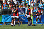 Japan team group (JPN), <br /> AUGUST 11, 2016 - / Rugby Sevens : <br /> Men's Semi-final <br /> between Fiji 20-5 Japan <br /> at Deodoro Stadium <br /> during the Rio 2016 Olympic Games in Rio de Janeiro, Brazil. <br /> (Photo by YUTAKA/AFLO SPORT)