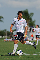 Danny Cruz (7) of the USA. The US U-20 Men's National Team defeated the U-20 Men's National Team of Costa Rica 2-1 in an international friendly during day four of the US Soccer Development Academy  Spring Showcase in Sarasota, FL, on May 25, 2009.