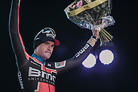 3rd place for last years winner Greg Van Avermaet (BEL/BMC)<br /> <br /> 61th E3 Harelbeke 2018 (1.UWT)<br /> Harelbeke > Harelbeke (206km)