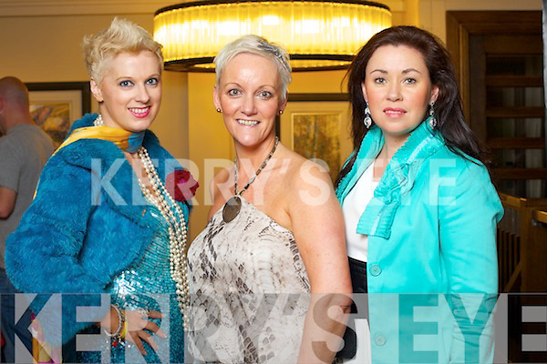 Orla Winters, Tralee, Jill Hannon Castleisland and Marlyn Duffy, Tralee at Kerry Fashion Weekend at the Brehon Hotel Killarney on Sunday.