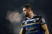 Elliott Stooke of Bath Rugby looks on during a break in play. Premiership Rugby Cup match, between Bath Rugby and Gloucester Rugby on February 3, 2019 at the Recreation Ground in Bath, England. Photo by: Patrick Khachfe / Onside Images