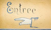 Switzerland, Canton Valais, Evolène - district Arolla: Entrance to the old Post and Telegraph bureau | Schweiz, Kanton Wallis, Evolène - Ortsteil Arolla: Eingang zum alten Post- und Telegraphenamt
