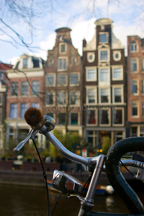 Traditional Dutch transport - cycling is the best way to get around Amsterdam