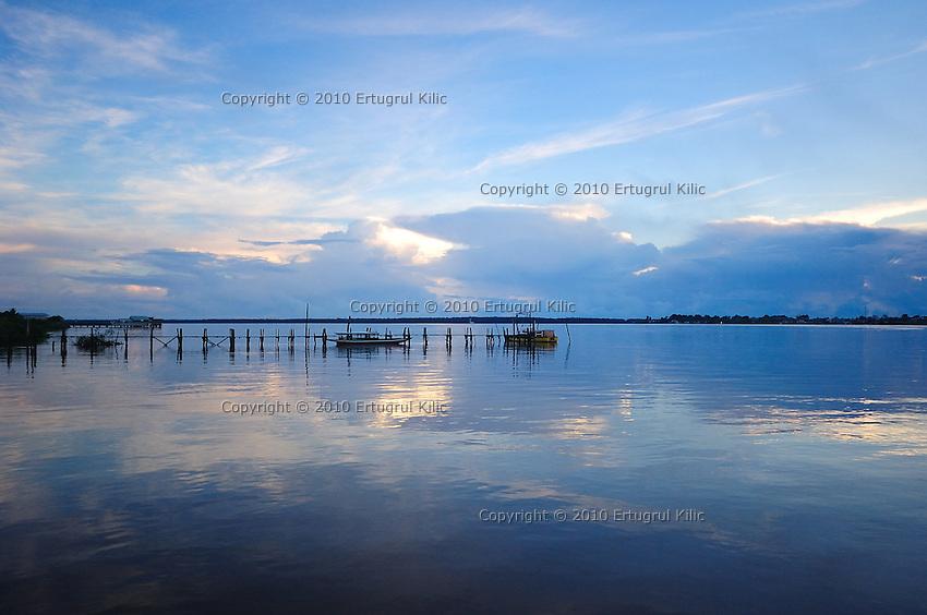 Blue sunrise on Suriname River
