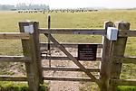 Entrance gate to Woodhenge neolithic prehistoric henge site, near Amesbury, Wiltshire, England, UK