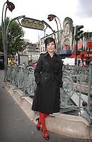 Sharleen Spiteri shoots her new video in the Theatre Trianon, Paris...