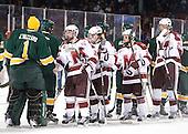 John Vazzano (Vermont - 1), Eric Filiou (UMass - 10), Conor Sheary (UMass - 13), ?, Oleg Yevenko (UMass - 25) - The University of Massachusetts (Amherst) Minutemen defeated the University of Vermont Catamounts 3-2 in overtime on Saturday, January 7, 2012, at Fenway Park in Boston, Massachusetts.