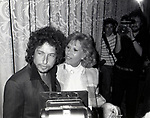 Bob Dylan and Dinah Shore attend the Songwriters Hall Of Fame held on March 28, 1982 at the Hilton Hotel in New York City.