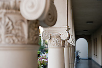 Detail, columns, Weingart Hall, 2009-2010. (Photo by Marc Campos, Occidental College Photographer)
