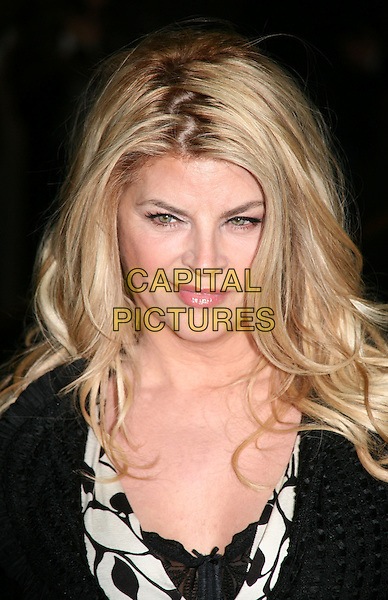 KIRSTIE ALLEY .New York City premiere of 'The Runaways' at Landmark Sunshine Cinema, New York City, USA, .17th March 2010..portrait headshot black and white print .CAP/ADM/PZ.©Paul Zimmerman/AdMedia/Capital Pictures.