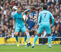 Tottenham Hotspur's Eric Dier (left) battles with Brighton & Hove Albion's Dale Stephens (right) <br /> <br /> Photographer David Horton/CameraSport<br /> <br /> The Premier League - Brighton and Hove Albion v Tottenham Hotspur - Saturday 5th October 2019 - The Amex Stadium - Brighton<br /> <br /> World Copyright © 2019 CameraSport. All rights reserved. 43 Linden Ave. Countesthorpe. Leicester. England. LE8 5PG - Tel: +44 (0) 116 277 4147 - admin@camerasport.com - www.camerasport.com
