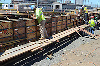 New Haven Rail Yard, Independent Wheel True Facility. CT-DOT Project # 0300-0139, New Haven CT..Photograph of Construction Progress Photo Shoot 12 on 15 June 2012. Concrete Foundation Pour. One of 56 Images Captured this Submission.