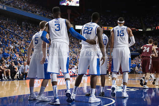 UK players after recoving from a foul during the second half of the UK vs. Lafaytte basketball game at Rupp Arena  on Friday, Nov. 16, 2012. Photo by Adam Chaffins | Staff