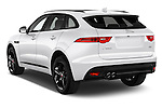 Car pictures of rear three quarter view of 2018 Jaguar F-PACE 20d-R-Sport-AWD 5 Door SUV Angular Rear