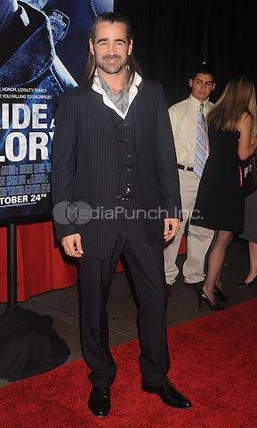 Colin Farrell at the New York premiere of Pride and Glory. The AMC Loews in Lincoln Square. October 15, 2008. Credit: Dennis Van Tine/MediaPunch