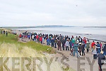 RIGHT OF WAY: The large crowd the gathered to protest against the fencing off of Fenit Island at Fenit on New Year's day...