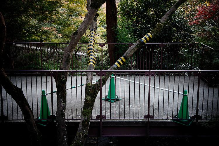Kyoto, November 24 2011 - At Kiyomizu-dera in Kyoto. Warning signs.
