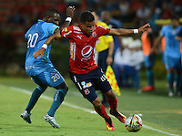 MEDELLIN -COLOMBIA, 18-09-2016. Acción de juego entre Independiente Medellín y Jaguares FC durante encuentro  por la fecha 13 de la Liga Aguila II 2016 disputado en el estadio Atanasio Girardot ./Action game between Independiente Medellin and Jaguares FC    during match for the date 13 of the Aguila League II 2016 played at Atanasio Girardot  stadium . Photo:VizzorImage / León Monsalve   / Contribuidor