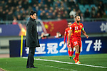 Jiangsu FC Head Coach Choi Yong Soo (L) during the AFC Champions League 2017 Group H match between Jiangsu FC (CHN) vs Adelaide United (AUS) at the Nanjing Olympics Sports Center on 01 March 2017 in Nanjing, China. Photo by Marcio Rodrigo Machado / Power Sport Images