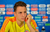 KAZAN - RUSIA, 23-06-2018: Santiago ARIAS jugador de Colombia, durante rueda de prensa en Kazan Arena previo al encuentro del Grupo H  con Polonia como parte de la Copa Mundo FIFA 2018 Rusia. / Santiago ARIAS player of Colombia during press conference in Kazan Arena prior the group H match with Poland as part of the 2018 FIFA World Cup Russia. Photo: VizzorImage / Julian Medina / Cont