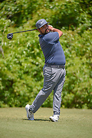 J.J. Spaun (USA) watches his tee shot on 2 during Round 2 of the Zurich Classic of New Orl, TPC Louisiana, Avondale, Louisiana, USA. 4/27/2018.<br /> Picture: Golffile | Ken Murray<br /> <br /> <br /> All photo usage must carry mandatory copyright credit (&copy; Golffile | Ken Murray)