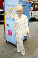 Barbara Windsor MBE joins Team London Ambassadors to welcome visitors from around the world to London at Piccadilly Circus, London on August 5th, 2015<br /> <br /> Photo by Bob Kent