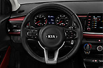 Car pictures of steering wheel view of a 2018 KIA Rio EX 5 Door Hatchback