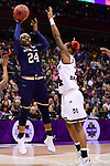 COLUMBUS, OH - APRIL 1: Arike Ogunbowale #24 of the Notre Dame Fighting Irish takes a shot against Jordan Danberry #24 of the Mississippi State Bulldogs during the championship game of the 2018 NCAA Division I Women's Basketball Final Four at Nationwide Arena in Columbus, Ohio. (Photo by Ben Solomon/NCAA Photos via Getty Images)
