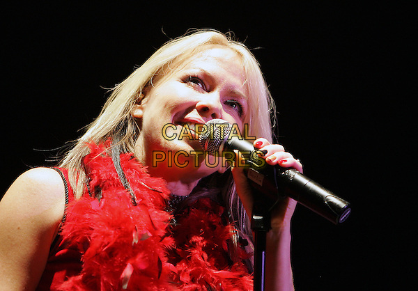 TERRI NUNN - BERLIN.Live in a co-headlining show with Bow Wow Wow at The House of Blues Anaheim in Anaheim, California .December 10th, 2004.stage, concert, live, music, singing, headshot, portrait, feather boa.www.capitalpictures.com.sales@capitalpictures.com.Supplied By Capital PIctures