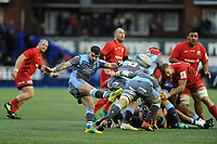Lewis Jones of Cardiff Blues in action during the Heineken Champions Cup match between Cardiff Blues and Saracens at Cardiff Arms Park in Cardiff, Wales. Saturday 15 December 2018