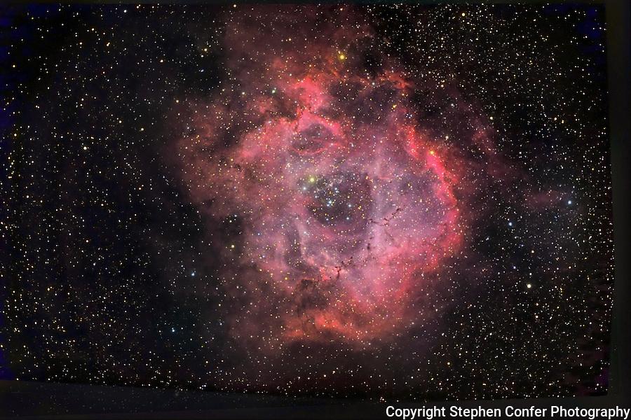 NGC 2244 ROSETTE NEBULA DEEP SPACE PHOTOGRAPH