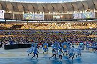 Rio de Janeiro (RJ), 07/07/2019 - Copa América / Final / Brasil x Peru -   Bailarinos durante cerimônia de encerramento da Copa América antes da partida entre Brasil e Peru no Estádio do Maracanã no Rio de Janeiro neste domingo, 07.  (Foto: Anderson Lira/Brazil Photo Press)