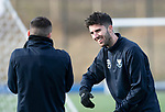 St Johnstone Training&hellip;05.02.19<br />Sean Goss having a laugh with former Rangers team mate Michael O&rsquo;Halloran during training this morning at McDiarmid Park ahead of tomorrow&rsquo;s game at Hamilton<br />Picture by Graeme Hart.<br />Copyright Perthshire Picture Agency<br />Tel: 01738 623350  Mobile: 07990 594431