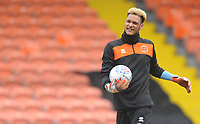 Blackpool's Christoffer Mafoumbi during the pre-match warm-up <br /> <br /> Photographer Kevin Barnes/CameraSport<br /> <br /> The EFL Sky Bet League One - Blackpool v Plymouth Argyle - Saturday 30th March 2019 - Bloomfield Road - Blackpool<br /> <br /> World Copyright © 2019 CameraSport. All rights reserved. 43 Linden Ave. Countesthorpe. Leicester. England. LE8 5PG - Tel: +44 (0) 116 277 4147 - admin@camerasport.com - www.camerasport.com