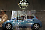 Mar. 19, 2010 - Tokyo, Japan - A Nissan Leaf scale model is displayed at the company's showroom in Tokyo, in the Ginza district of Tokyo, Japan, on April 19, 2010. Nissan said that it will start selling its zero-emission Leaf electric car in Japan in December. Price will start from 3.76 million yen and Nissan aims to sell 6,000 units in Japan in fiscal year 2010.