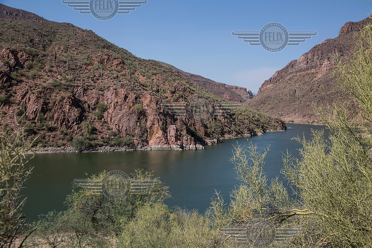"""The area near the Roosevelt Dam and the Salt River, one location of the movie """"Transformers 5 The Last Knight"""" , E7, being filmed near Theodore Roosevelt Dam in Arizona. The film has just started filming and further filming will take place in locations like Detroit, Ireland, Great Britan and Iceland. <br /> <br /> ©Fredrik Naumann/Felix Features"""